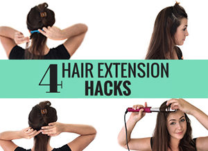 clip in hair extension hacks