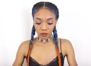 ombre festival braids